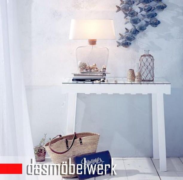 IMPRESSIONEN living Konsole Sideboard Tisch mit Glasplatte weiß 8274541
