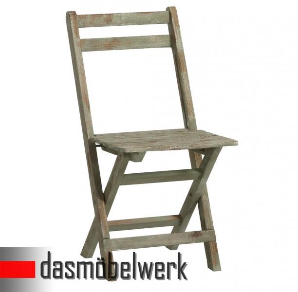 Klappstuhl Stuhl Deko Sitzmöbel klappbar Shabby Chic Design 13.170.05