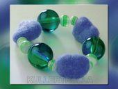 Käthe Kruse 92343 Armband Filz blau/grün