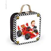 JANOD J02884 Puzzle 'Formel 1' 4 Motive im Koffer