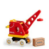 Brio 30428 Roter Kran mit Ladung Toddler-Push Along