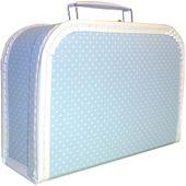 Kersa 86027 Kofferset 3tlg hellblau Punkte