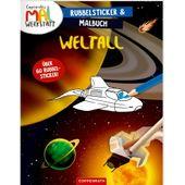 Coppenrath Verlag 62535 Rubbelsticker & Malbuch Weltall (Copp. Mal-Werkstatt)