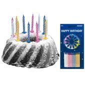 Amscan 5053 24 Geburtstagskerzen mit 12 Haltern