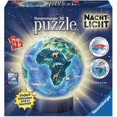 Ravensburger 11844 3D Puzzle-Ball 72 Teile Erde im Nachtdesign, Nachtlicht
