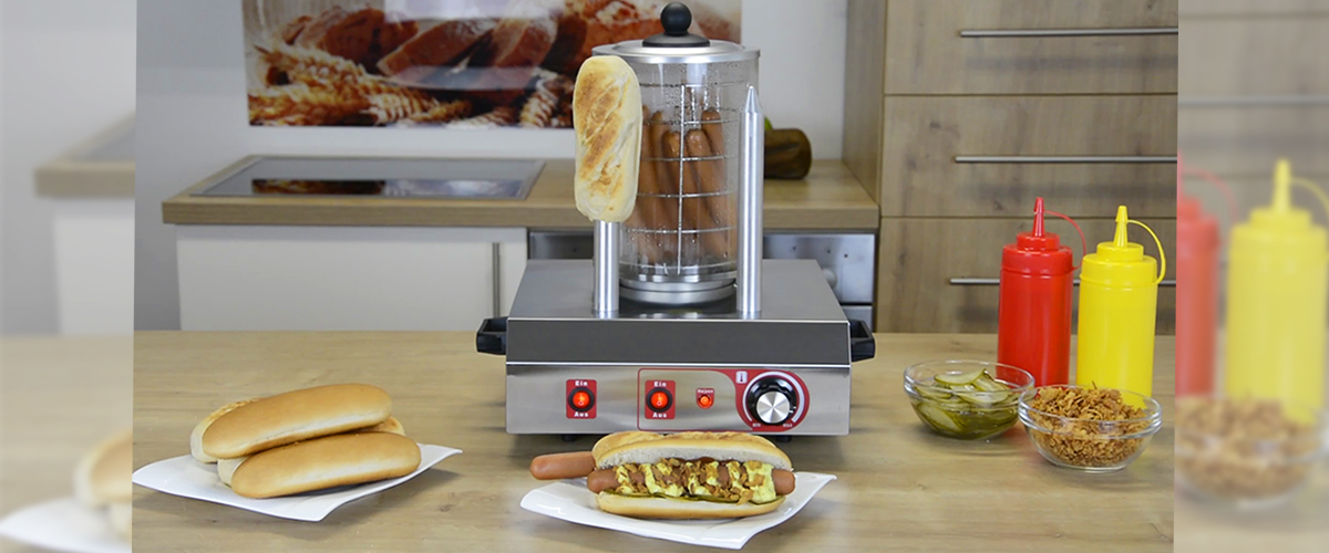 Beeketal Hot Dog Erhitzer Würstchenwärmer Hot Dog Maker