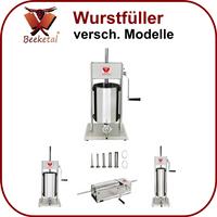 Beeketal Edelstahl Wurstfüller BT/BTH-Serie 3-15L inkl. 5 Fülltüllen + 3 Dichtungen