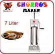 Beeketal Churros Maschine Wurstfüller 7L Standard inkl. Edelstahl Churros Platte