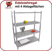Beeketal Gastro Edelstahlregal Regal BER4