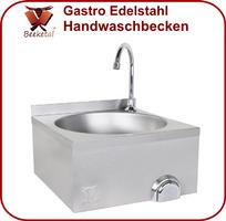 Beeketal Gastro Handwaschbecken Waschbecken mit Kniebetätigung HWB-III