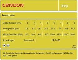 Tendon Reepschnur 4,0mm Durchmesser – Bild 2