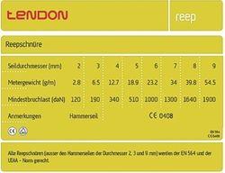 Tendon Reepschnur 4,0mm Durchmesser - 5m – Bild 2