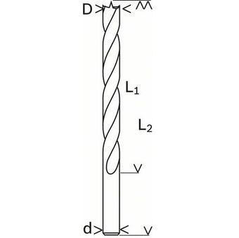 12mm Holzspiralbohrer für Einschlagmuttern (Kletterwände) – Bild 2