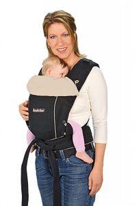 Hoppediz Bondolino schwarz-sand Komforttrage, Babytrage, Bauchtrage, Rückentrage – Bild 1