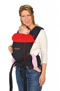 Hoppediz Bondolino schwarz-rot Komforttrage, Babytrage, Bauchtrage, Rückentrage