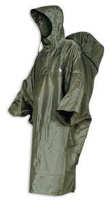 Tatonka Herren Poncho Cape, Uni Regenbekleidung, cub, grün