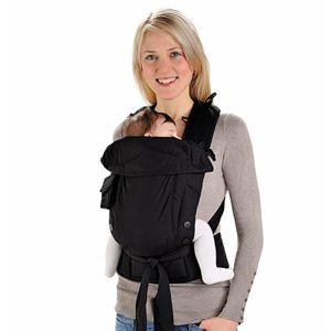 Hoppediz Bondolino Popeline schwarz Komforttrage, Babytrage, Bauchtrage, Rückentrage