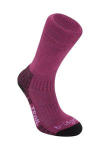 Bridgedale Trail Wool Fusion Damenfunktionssocken - berry – Bild 1