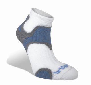 Bridgedale CoolFusion™ RUN Speed Diva Damenfunktionssocken- grey/blue – Bild 1