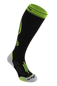 Bridgedale Compression Uni Active Funktionssocken- black/fluro – Bild 1