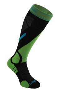 Bridgedale MerinoFusion™ Winter Sport Vertige Light Herrenfunktionssocken - black/green – Bild 1