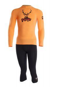 Lenz Unterwäsche Set Freiwild Men Funktionsbekleidung, orange/black – Bild 1