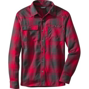 Outdoor Research - Feedback Flannel Shirt Mens - Redwood/Black