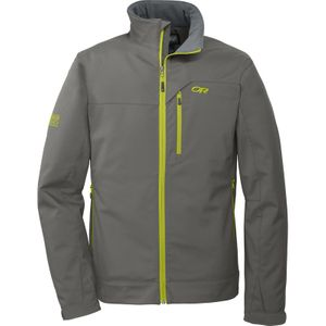 Outdoor Research - Transfer Softshell Jacket Men - Pewter/Lemongrass