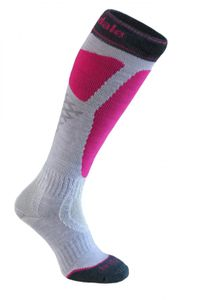 Bridgedale MerinoFusion™ Winter Sports Alpine Tour Damenfunktionssocken - lite grey/pink  – Bild 1