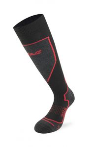 Lenz Funktionssocken Skiing 2.0, black/red – Bild 1