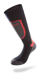 Lenz Funktionssocken Skiing 3.0, black/red – Bild 1