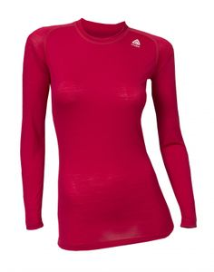 Aclima Lightwool Women's Crew Neck Shirt - persian red