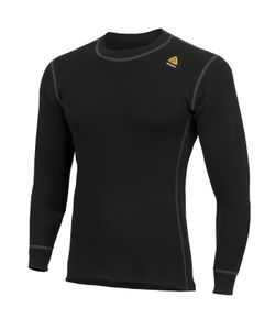 Aclima WarmWool Men's Crew Neck Shirt - jet black