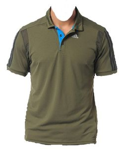 adidas CLTR Herren Polo, Earth Green climacool, F49068