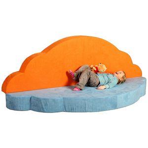 Wolke 7 in hellblau/orange