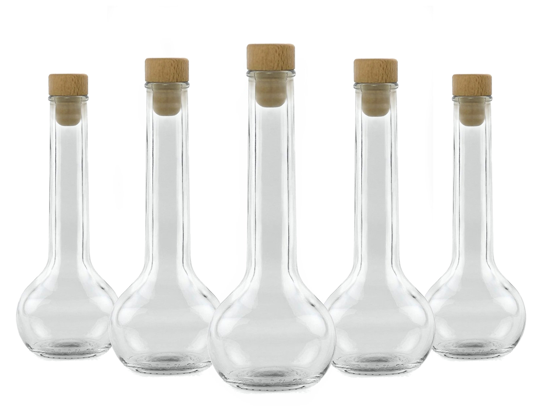 glasflasche 200ml leer 10x tulipano flaschen f r essig l schnaps lik r grappa whisky. Black Bedroom Furniture Sets. Home Design Ideas
