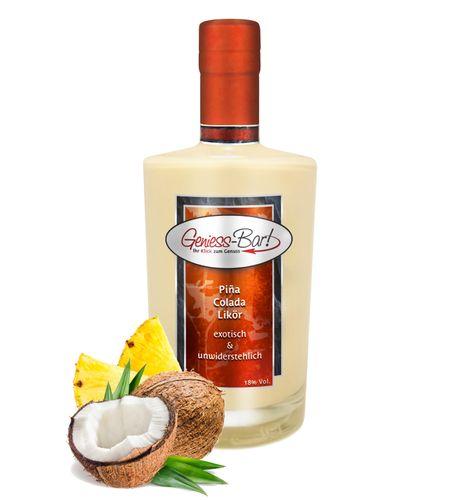 Pina Colada Likör Kokos & Ananas auf Sahne Creme - einfach lecker! 18% Vol