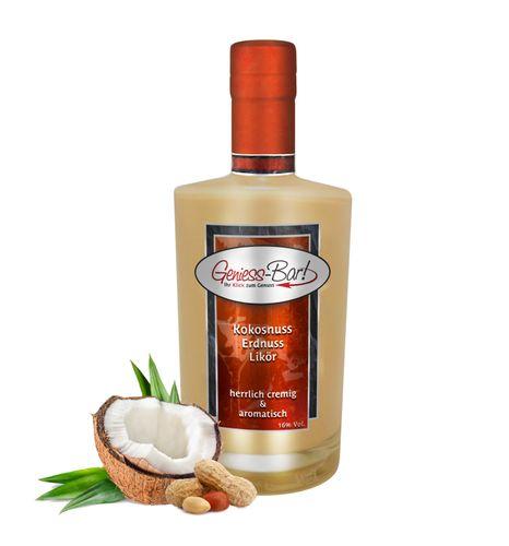 Kokosnuss Erdnuss Likör - Karibische Versuchung aus Kokos Erdnuss & Rum 16% Vol