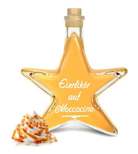 Eierlikör auf Moccacino 0,2L Stern Flasche cremig & lecker mit Espresso & Nuss 20% Vol.