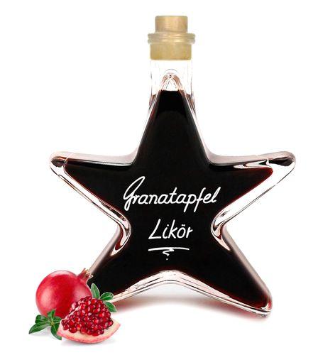 Granatapfel Likör 0,2L Stern Flasche Fruchtbombe mit imponierend vollem Aroma