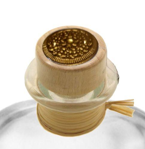 3x Apotheker Flaschen Glas Geschenk Komplettset leer 1000 ml, Anhänger, Kapsel Siegel gold, Korken, Bast
