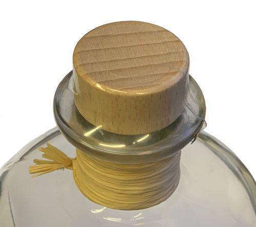 5x Profi Set Apotheker Flaschen leer 500ml Glasflaschen m. Korken Bast Schrumpfkapsel transparent