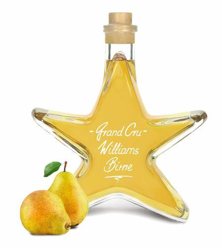 Grand Cru Williams Christ Birne Stern Flasche 0,2L fruchtig & weich Edelspirituose Schnaps 40% kein Birnenbrand  Amazon/Ebay