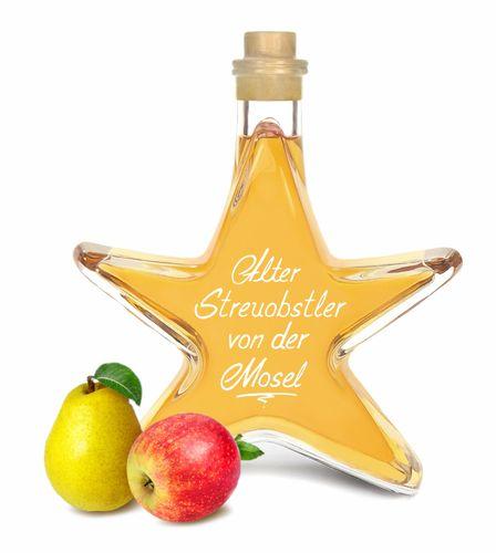 Alter Streuobstler Apfel & Birne 0,2L Stern Flasche intensiv fruchtig & mild Apfel & Birnen 40%Vol