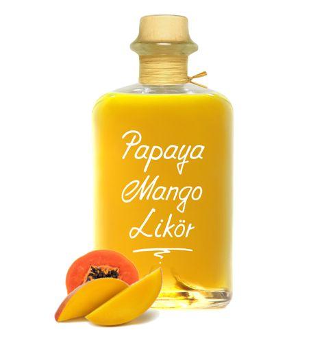 Papaya Mango Likör herrlich exotisch mit intensiver Frucht 18% Vol.