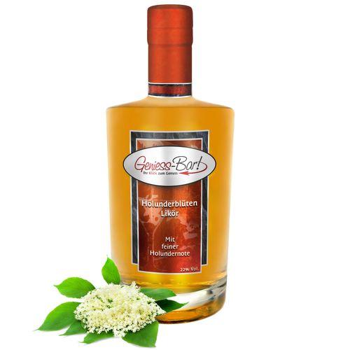 Holunder Blüten Likör mit wunderbarem Holunderblüten Aroma 18% Vol