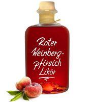 Roter Weinbergpfirsich Likör - saftig aromatisch & lecker! 18% Vol.