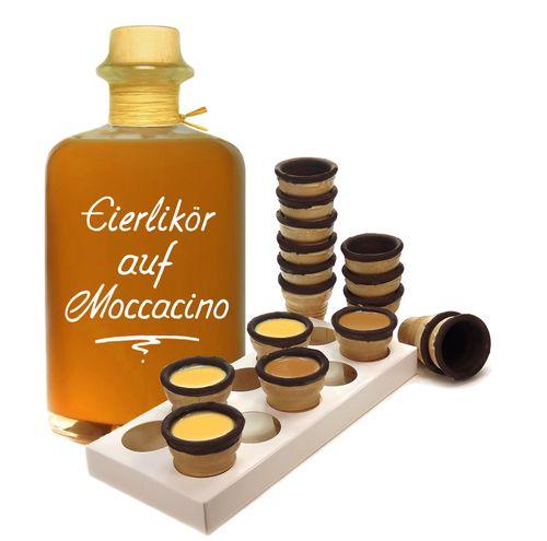 Eierlikör auf Moccacino mit Waffelbechern & Becherhalter Sämig & süffig 19% Vol.