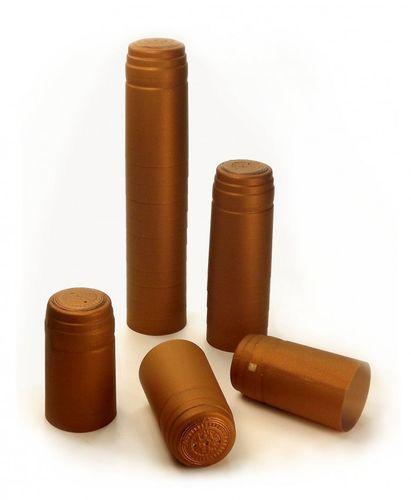 50x Schrumpfkapsel für Glas Flaschen Oxid bronze seidenmatt Flaschenkapsel mit Siegel