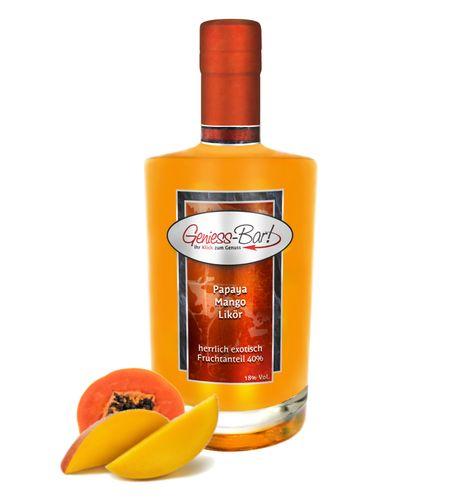 Papaya Mango Likör - herrlich exotisch mit intensiver Frucht 18% Vol.